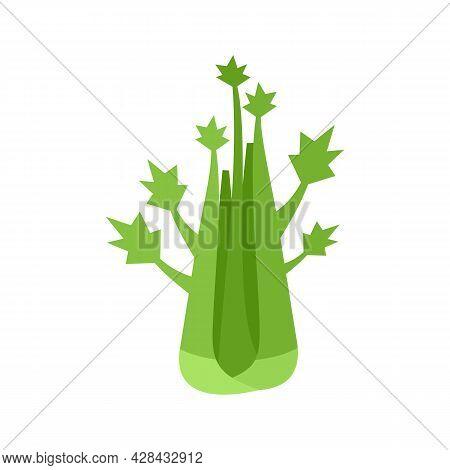 Veggies Celery Icon. Flat Illustration Of Veggies Celery Vector Icon Isolated On White Background