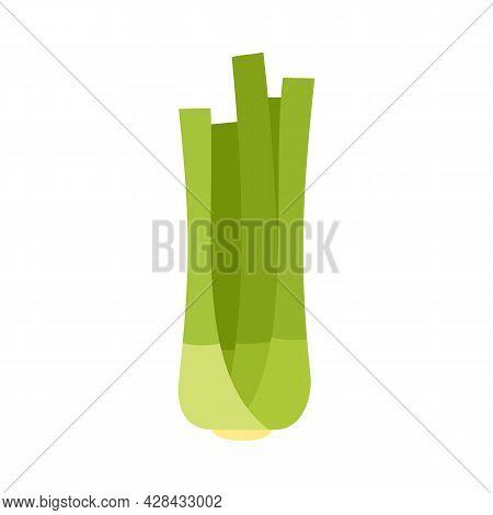 Fresh Celery Icon. Flat Illustration Of Fresh Celery Vector Icon Isolated On White Background