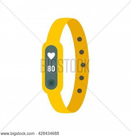 Running Bracelet Icon. Flat Illustration Of Running Bracelet Vector Icon Isolated On White Backgroun