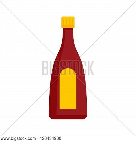 Ketchup Bottle Icon. Flat Illustration Of Ketchup Bottle Vector Icon Isolated On White Background