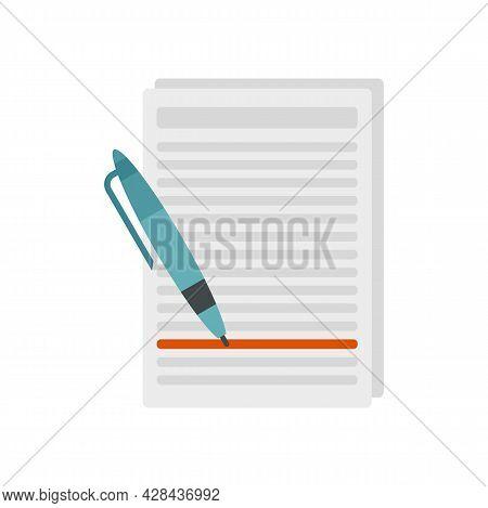 Essay Edit Icon. Flat Illustration Of Essay Edit Vector Icon Isolated On White Background