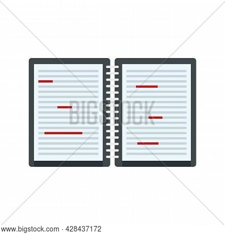 Writer Editor Icon. Flat Illustration Of Writer Editor Vector Icon Isolated On White Background