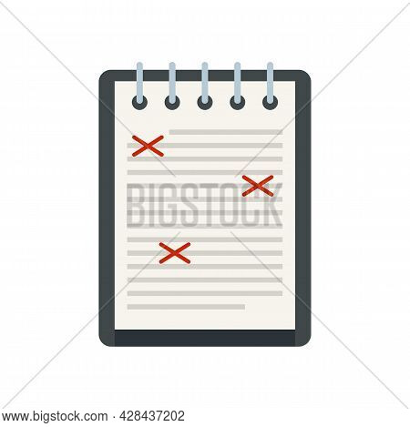Review Editor Icon. Flat Illustration Of Review Editor Vector Icon Isolated On White Background