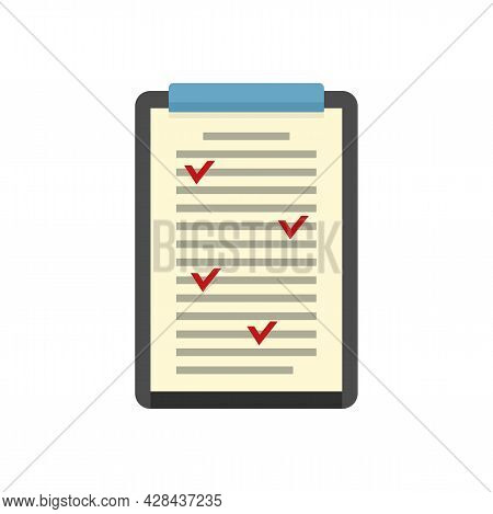 Clipboard Edit Icon. Flat Illustration Of Clipboard Edit Vector Icon Isolated On White Background