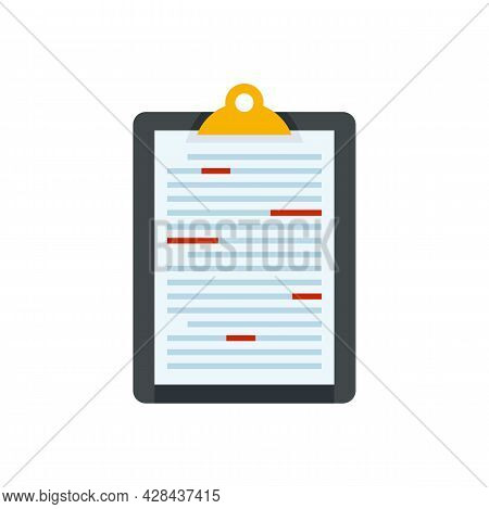 News Editor Icon. Flat Illustration Of News Editor Vector Icon Isolated On White Background