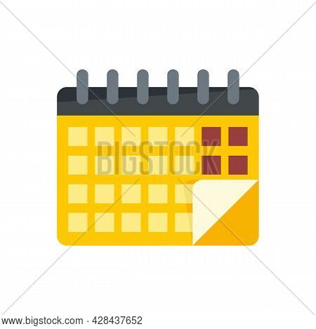 Lesson Calendar Icon. Flat Illustration Of Lesson Calendar Vector Icon Isolated On White Background