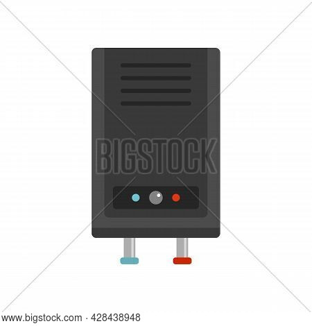Thermal Boiler Icon. Flat Illustration Of Thermal Boiler Vector Icon Isolated On White Background