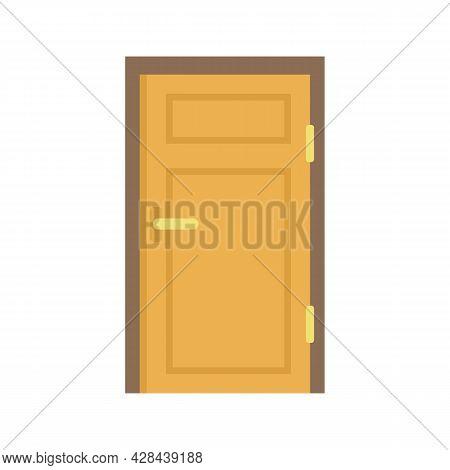 Interior Door Icon. Flat Illustration Of Interior Door Vector Icon Isolated On White Background