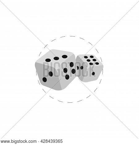 Dice Cubes Clipart. Dice Cubes Simple Vector Clipart. Dice Cubes Isolated Clipart.