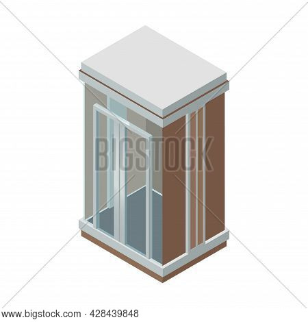 Elevator Clipart. Elevator Simple Vector Clipart. Elevator Isolated Clipart.