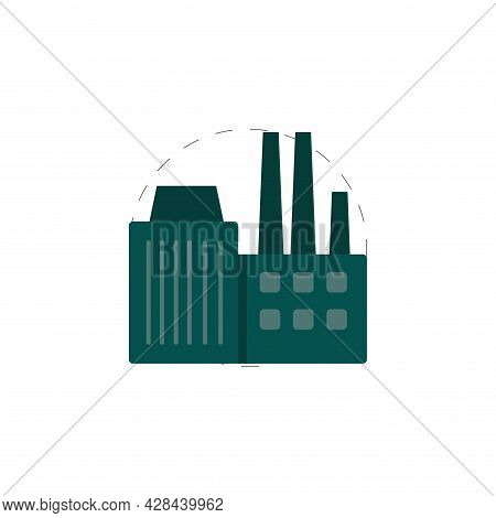 Factory Clipart. Factory Simple Vector Clipart. Factory Isolated Clipart.