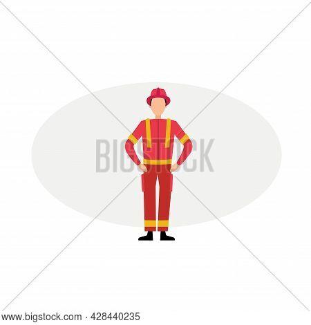 Fireman Clipart. Fireman Simple Vector Clipart. Fireman Isolated Clipart.
