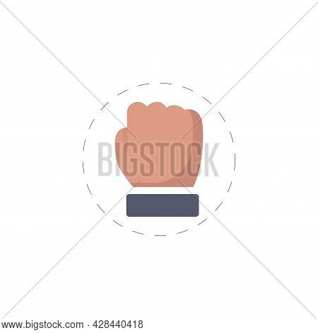 Fist Clipart. Fist Simple Vector Clipart. Fist Isolated Clipart.