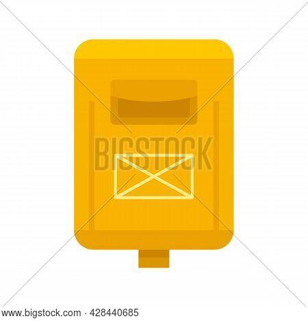Newsletter Mailbox Icon. Flat Illustration Of Newsletter Mailbox Vector Icon Isolated On White Backg