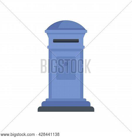 Home Envelope Inbox Icon. Flat Illustration Of Home Envelope Inbox Vector Icon Isolated On White Bac