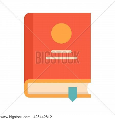 Lesson Book Icon. Flat Illustration Of Lesson Book Vector Icon Isolated On White Background