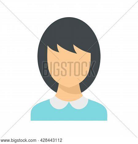 School Teacher Avatar Icon. Flat Illustration Of School Teacher Avatar Vector Icon Isolated On White