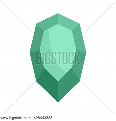 Ruby Icon. Flat Illustration Of Ruby Vector Icon Isolated On White Background