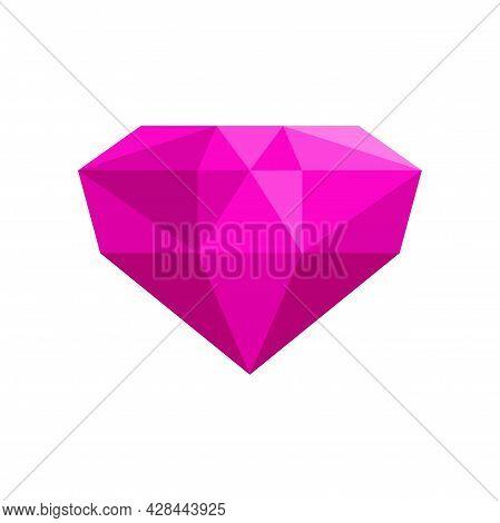 Precious Jewel Icon. Flat Illustration Of Precious Jewel Vector Icon Isolated On White Background