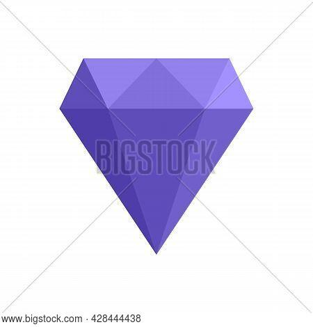 Perfection Gemstone Icon. Flat Illustration Of Perfection Gemstone Vector Icon Isolated On White Bac