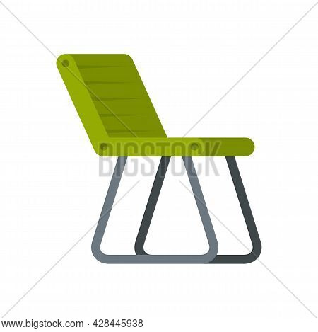 Fishing Chair Icon. Flat Illustration Of Fishing Chair Vector Icon Isolated On White Background