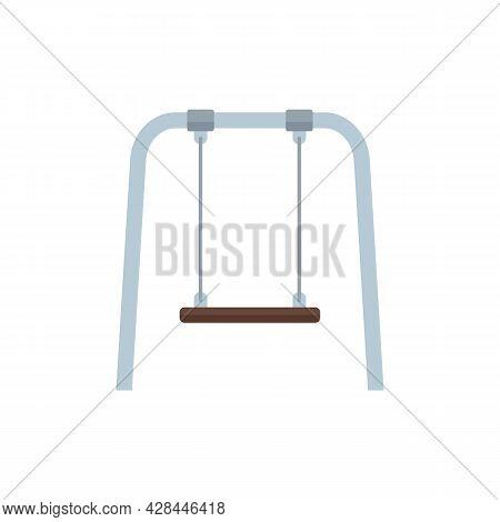 Kid Yard Swing Icon. Flat Illustration Of Kid Yard Swing Vector Icon Isolated On White Background