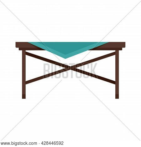 Picnic Table Icon. Flat Illustration Of Picnic Table Vector Icon Isolated On White Background