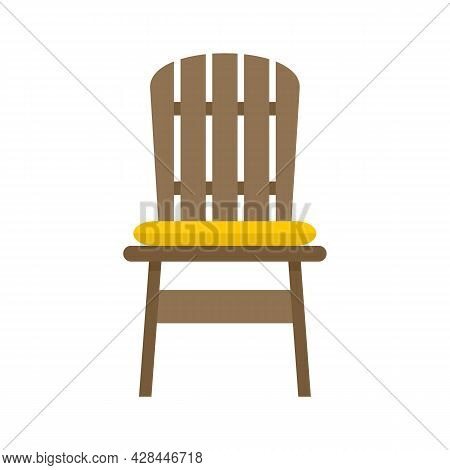 Comfortable Outdoor Chair Icon. Flat Illustration Of Comfortable Outdoor Chair Vector Icon Isolated