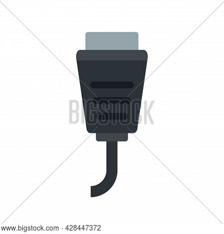 Data Connection Cable Icon. Flat Illustration Of Data Connection Cable Vector Icon Isolated On White