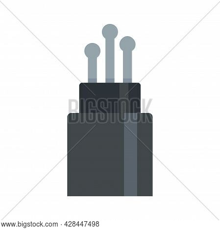 Broadband Optical Fiber Icon. Flat Illustration Of Broadband Optical Fiber Vector Icon Isolated On W