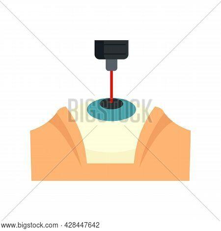 Laser Eye Examination Icon. Flat Illustration Of Laser Eye Examination Vector Icon Isolated On White
