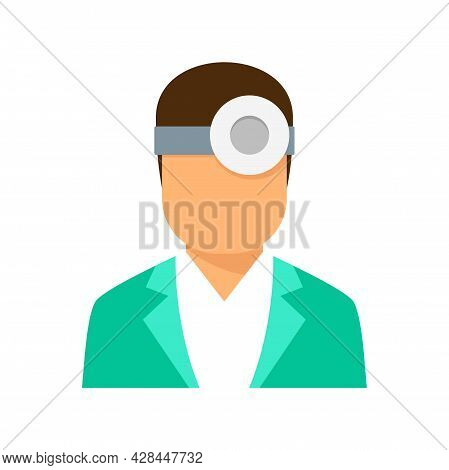 Ophthalmologist Icon. Flat Illustration Of Ophthalmologist Vector Icon Isolated On White Background
