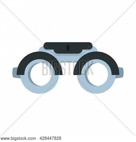 Eye Examination Steel Glasses Icon. Flat Illustration Of Eye Examination Steel Glasses Vector Icon I