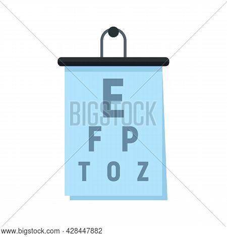 Eye Examination Banner Icon. Flat Illustration Of Eye Examination Banner Vector Icon Isolated On Whi