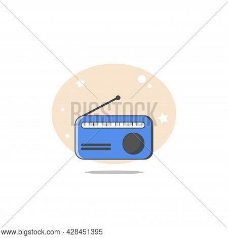 Radio Clipart. Radio Simple Vector Clipart. Radio Isolated Clipart.