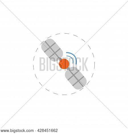 Space Satellite Clipart. Space Satellite Simple Vector Clipart. Space Satellite Isolated Clipart.