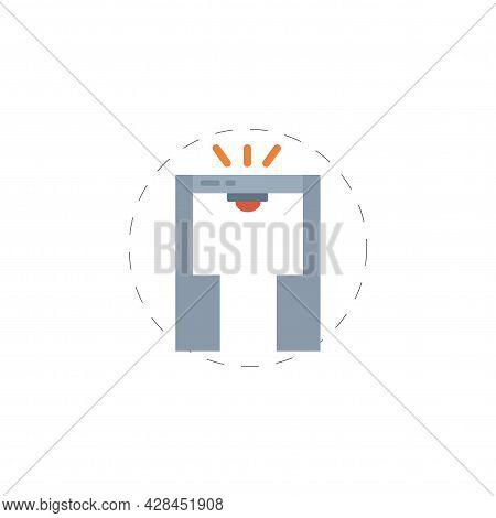 Security Gate Clipart. Security Gate Simple Vector Clipart. Security Gate Isolated Clipart.