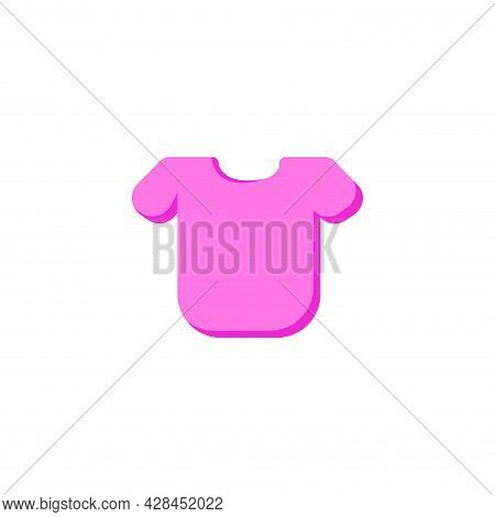Shirt Clipart. Shirt Simple Vector Clipart. Pink Shirt Isolated Clipart.