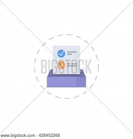 Ballot Clipart. Ballot Simple Vector Clipart. Ballot Isolated Clipart.