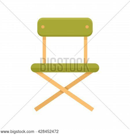 Camping Portable Chair Icon. Flat Illustration Of Camping Portable Chair Vector Icon Isolated On Whi