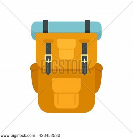 Hiking Backpack Icon. Flat Illustration Of Hiking Backpack Vector Icon Isolated On White Background