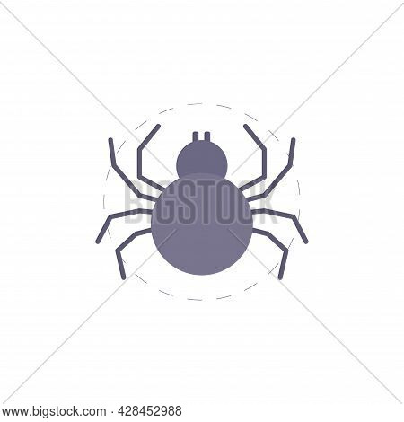 Spider Clipart. Spider Simple Vector Clipart. Spider Isolated Clipart.
