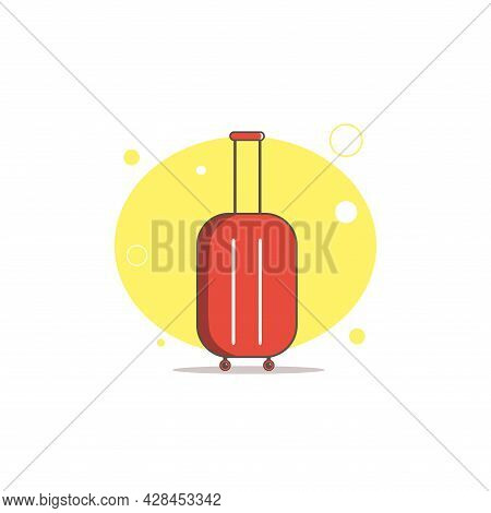 Suitcase Or Luggage Clipart. Suitcase Simple Vector Clipart. Suitcase Isolated Clipart.