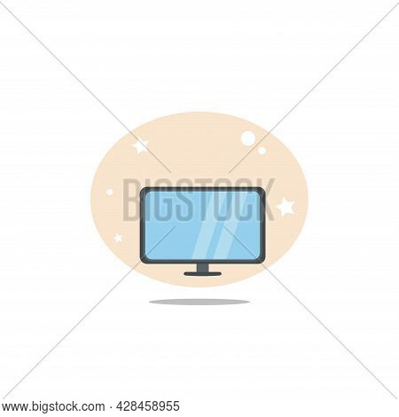 Tv Clipart. Tv Simple Vector Clipart. Tv Isolated Clipart.
