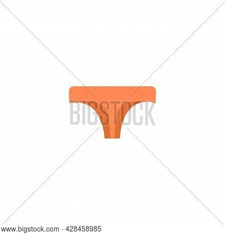 Thong Panties Clipart. Panties Simple Vector Clipart. Panties Isolated Clipart.