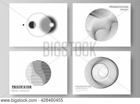 Vector Illustration Of The Editable Layout Of The Presentation Slides Design Business Templates. Geo
