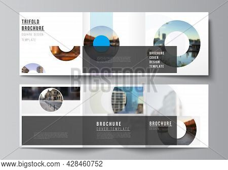 Vector Layout Of Square Covers Templates For Trifold Brochure, Flyer, Magazine, Cover Design, Book D
