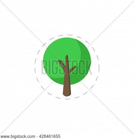 Tree Illustration Clipart. Tree Simple Vector Clipart. Tree Isolated Clipart.