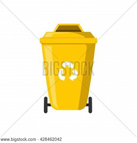 Trash Recycle Bin Container For Garbage Clipart. Trash Simple Vector Clipart. Trash Isolated Clipart