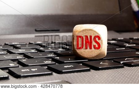 Dns - Acronym Domain Name System Concept On Cubes.